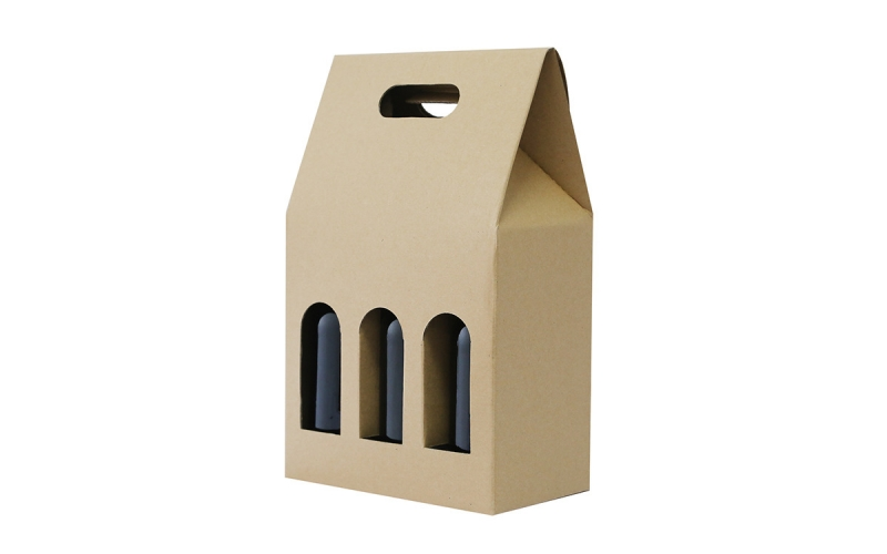 Customized cardboard packing gift box for 6 bottles beer