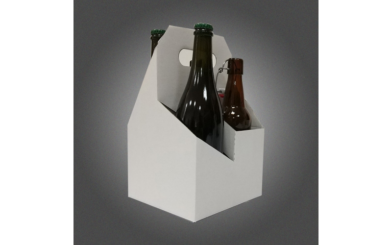 Customized cardboard packing gift box for 4 bottle beer